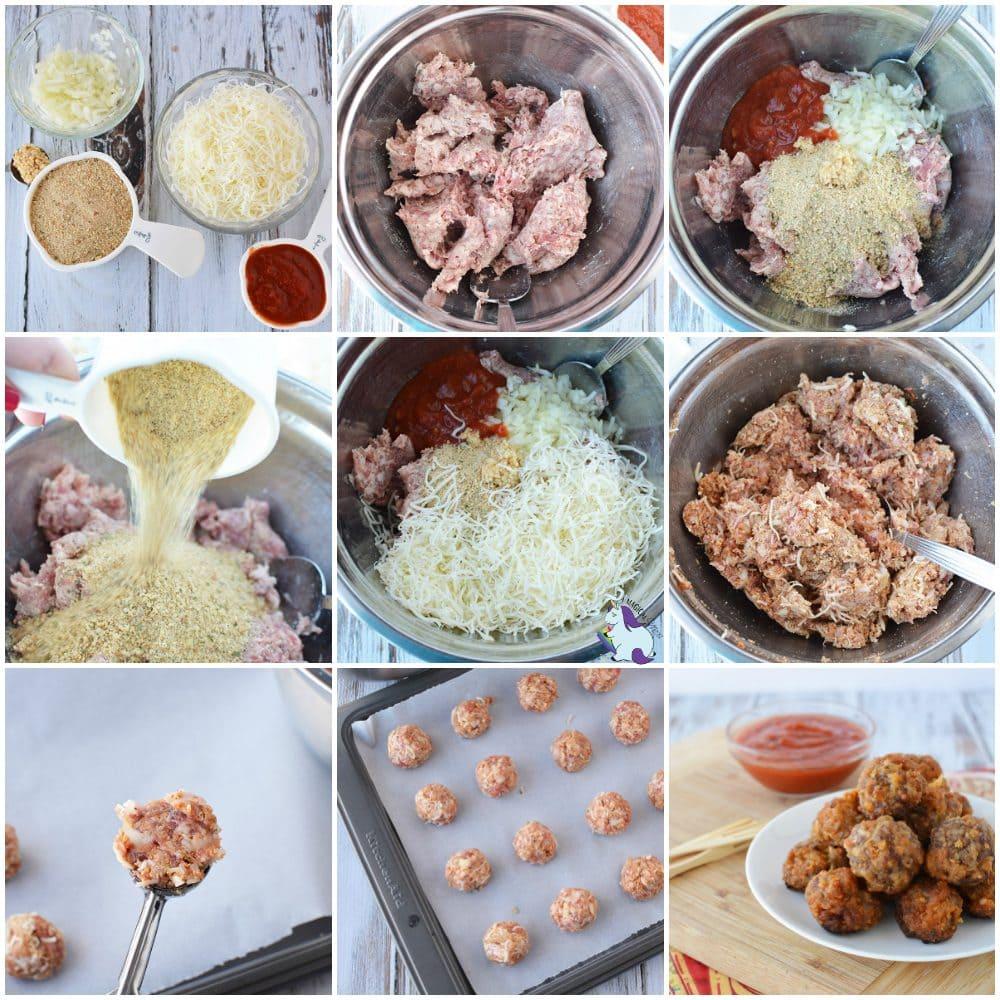 Sausage bites appetizer recipe in process