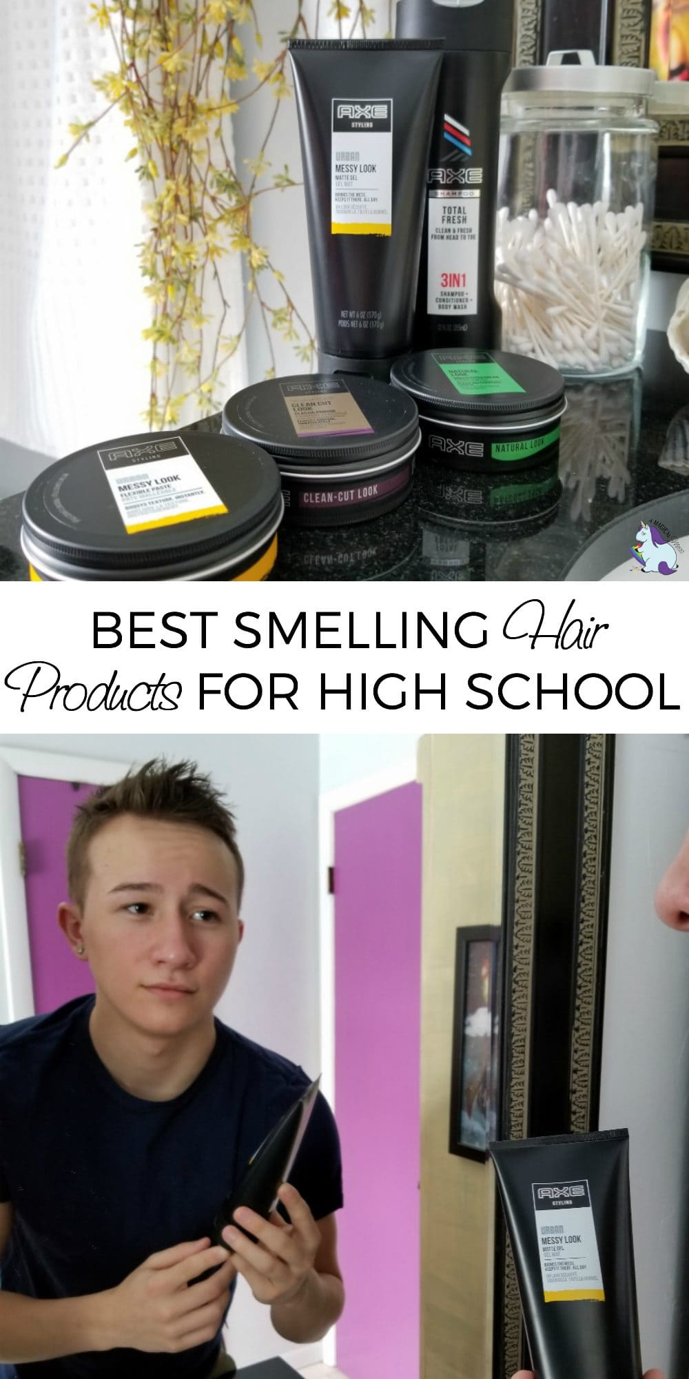 Best Smelling Hair Products for High School Boys #AXEtotalpackage #ad