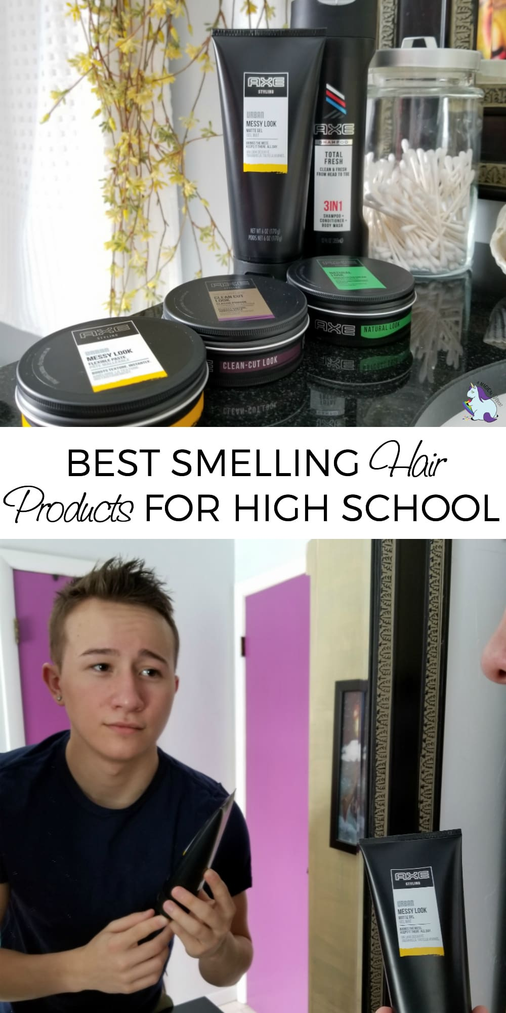 Good smelling hair is so important--especially for high school boys! #AXEtotalpackage #hair #products #savings #boys #teens