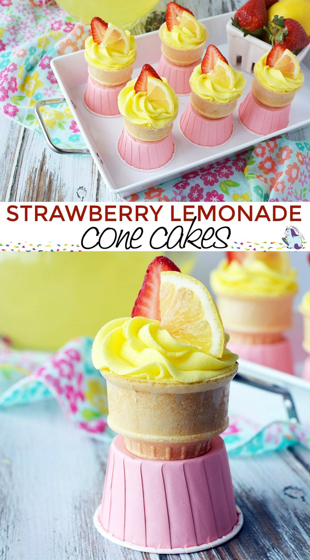 Strawberry Lemonade Cupcakes in a Cone Recipe