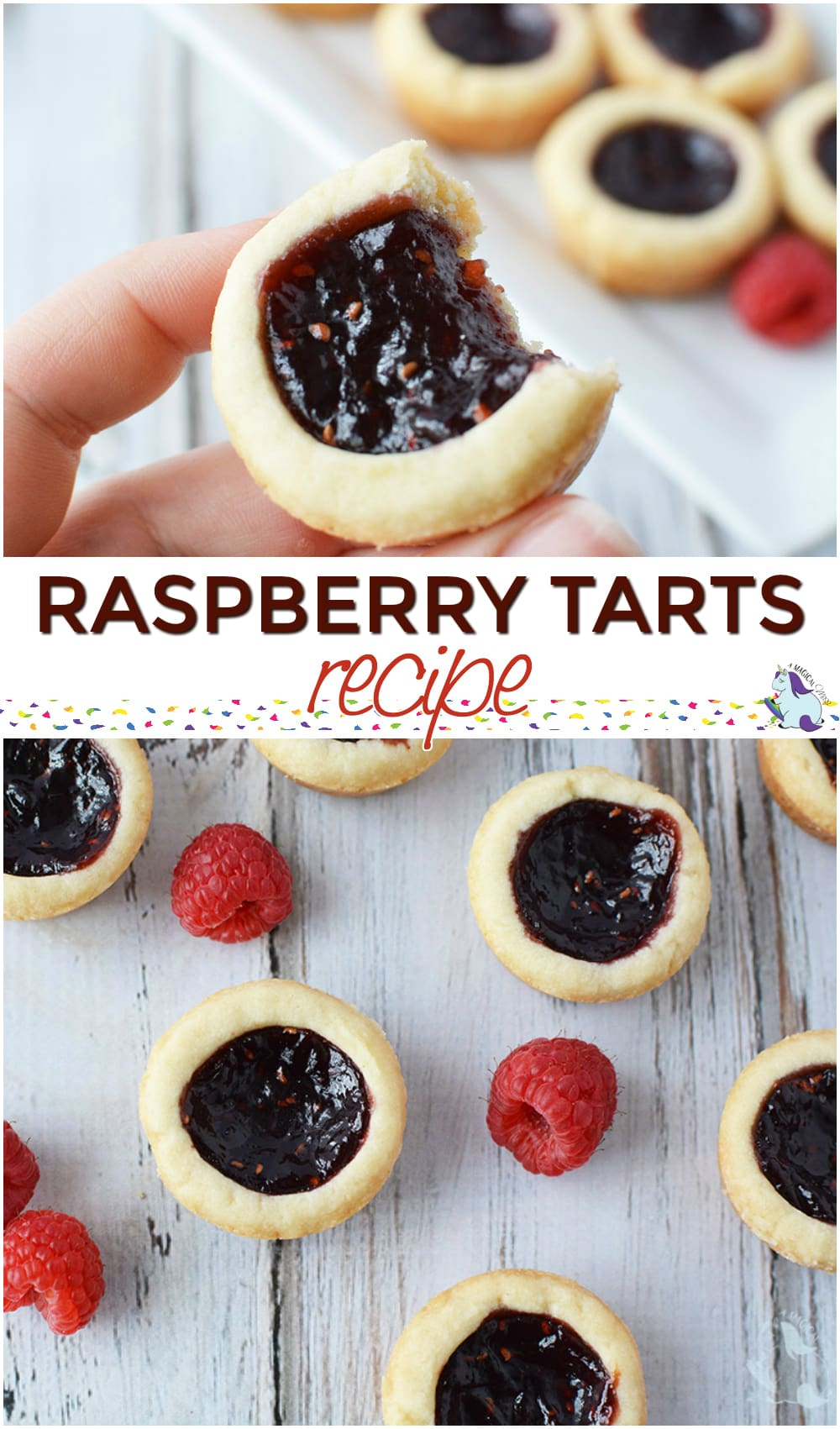 Easy raspberry tarts #recipe Mini Tarts with a buttery crunch #raspberry #tarts #valentinesday #bake #cookies #mini
