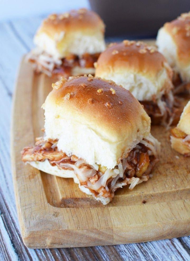 Honey Sweet Hawaiian BBQ Chicken Sliders Recipe