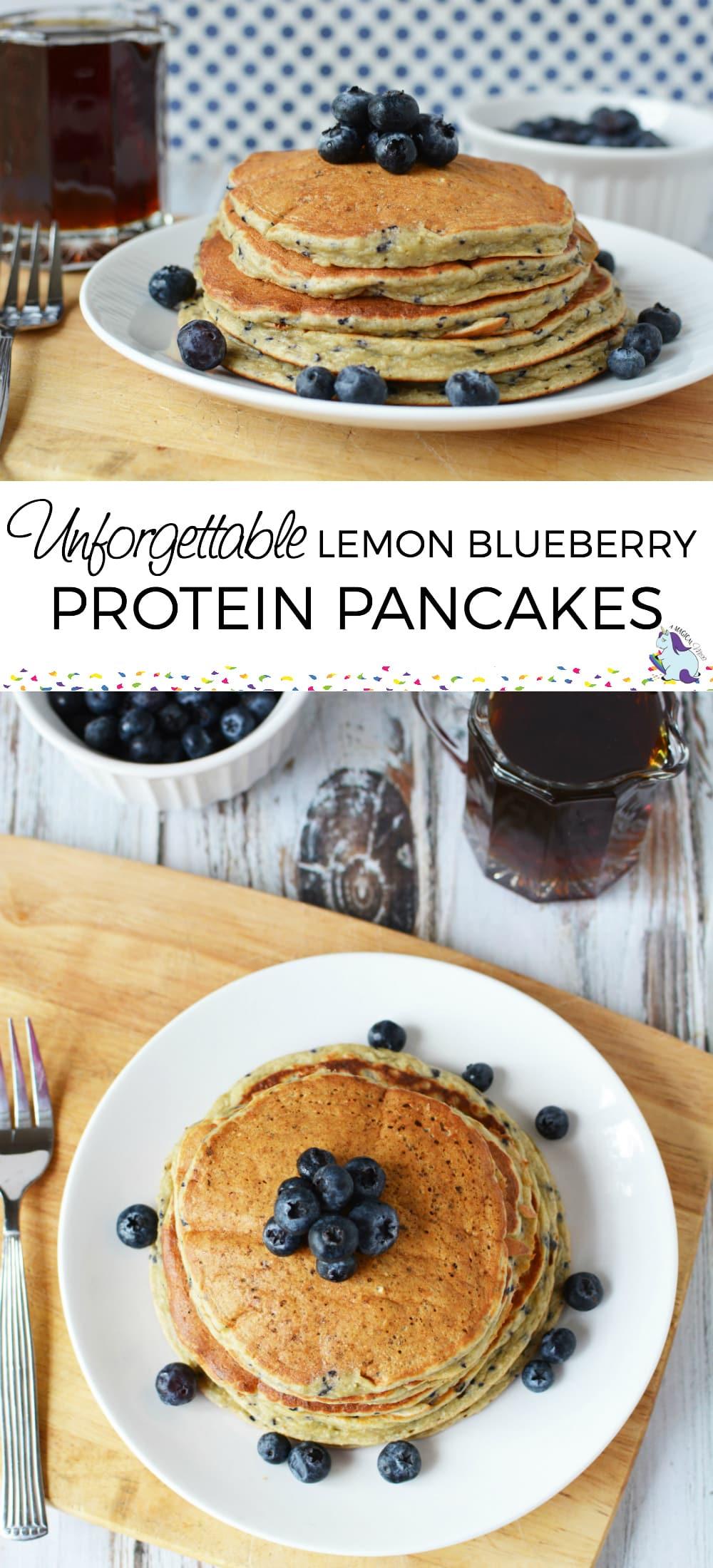 Best Protein Powder Pancakes - Unforgettable Lemon Blueberry #pancakes #recipe #breakfast #protein #proteinpancakes #lemon #blueberry