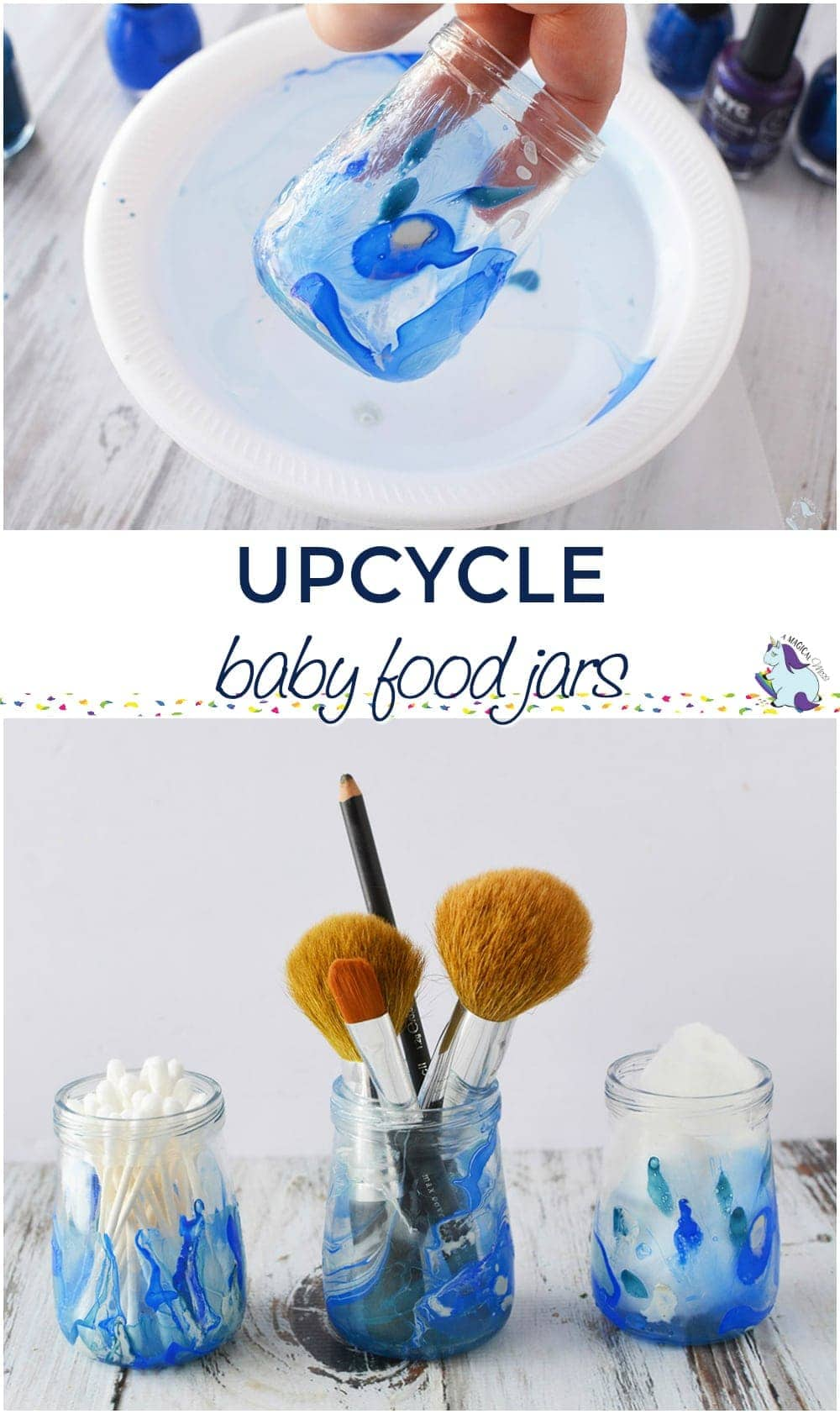 Upcycle Empty Baby Food Jars into Storage Containers