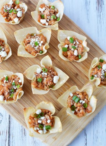 Easy BBQ Chicken Wonton Cups Recipe