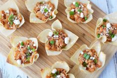 BBQ Chicken Wonton Cups Recipe