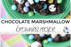 chocolate marshmallow brownies recipe in process