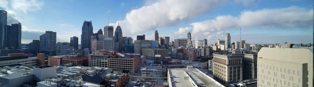 Detroit in winter