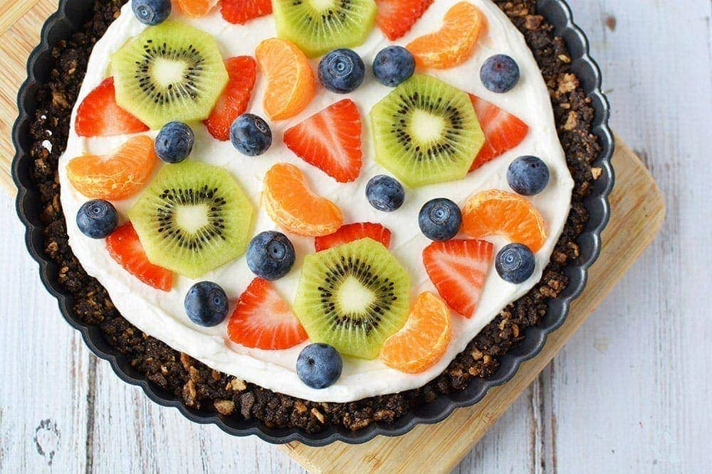 Dessert fruit pizza recipe