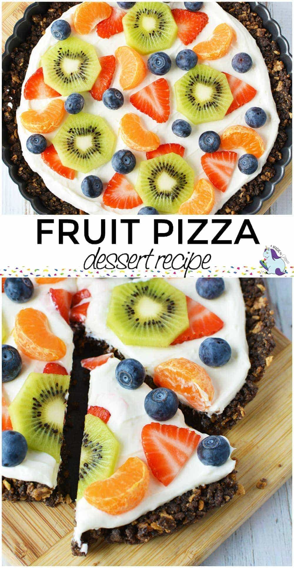 Sweet and Colorful Fruit Pizza Dessert Recipe #fruit #dessertpizza #dessert #colorful #recipes #recipe #tart #fruittart