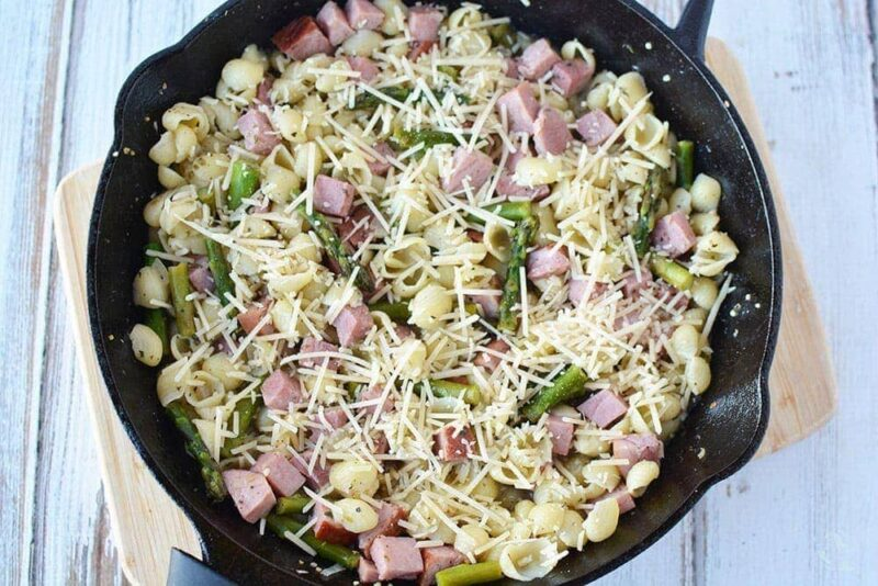 Asparagus and Ham Pasta Skillet Dinner Recipe