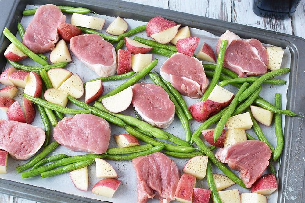 Honey Garlic Pork Tenderloin Sheet Pan Recipe