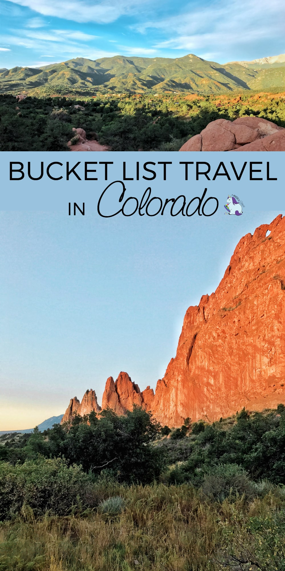 Colorado Vacations - Bucket List Travel Ideas in the Colorado Springs Region #travel #colorado #vacation