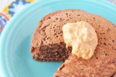 Delectable Chocolate Peanut Butter High Protein Pancakes