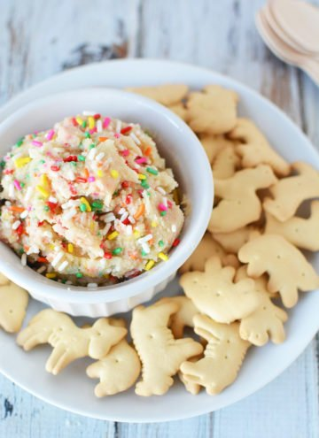 Rainbow Cookie Dough Dip Recipe you Can Eat with a Spoon