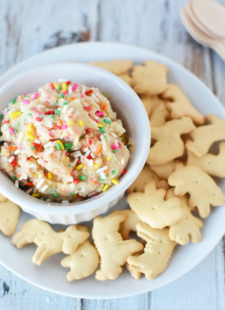 Rainbow Cookie Dough Dip Recipe