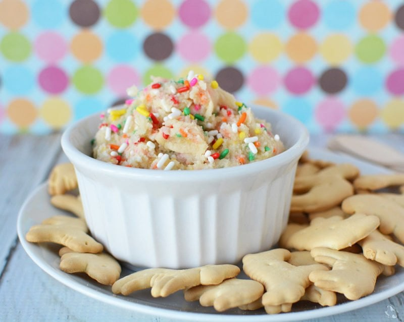 Rainbow Cookie Dough Dip Recipe