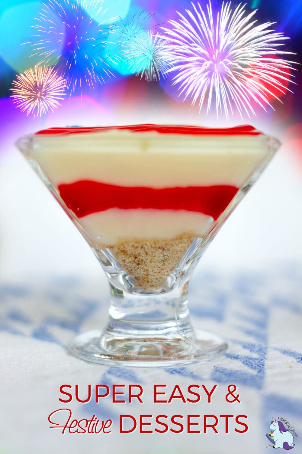 Patriotic pudding parfait