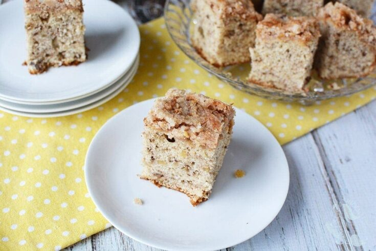 Light and Crunchy Banana Nut Coffee Cake Recipe