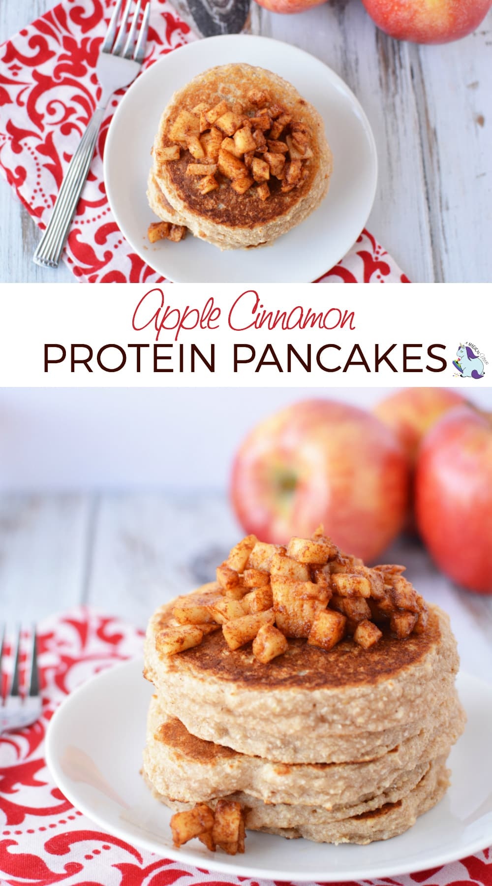 Bodybuilding Breakfast - Luscious Apple Cinnamon Protein Pancakes #protein #pancakes #breakfast #proteinpancakes #apple #cinnamon