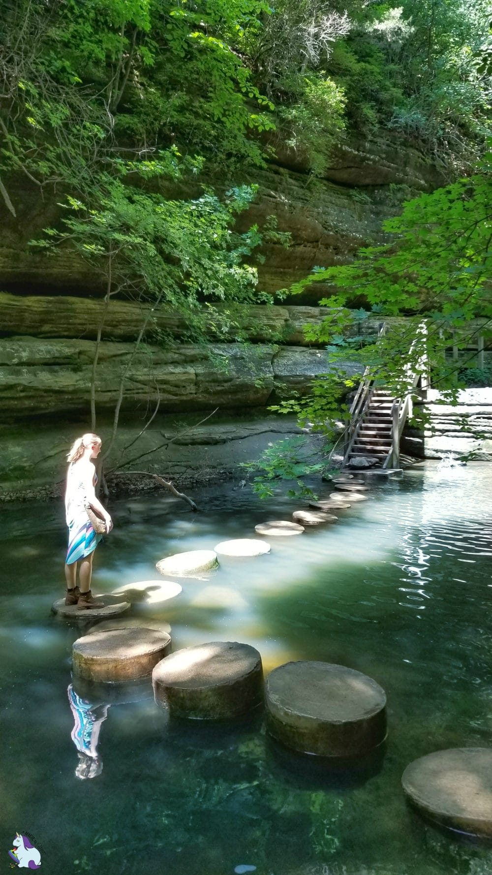 Matthiessen State Park waterfalls - Starved Rock area - A Kia Sorento Road Trip with Wrinkles, Change, Discovery, and Waterfalls #KiaFamily #KiaSorento #KiaPartner