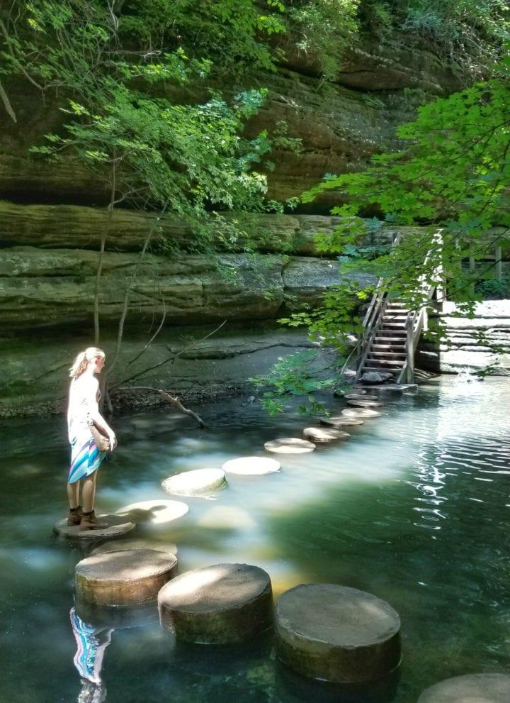 Matthiessen State Park waterfalls - Starved Rock area - A Kia Sorento Road Trip with Wrinkles, Change, Discovery, and Waterfalls #KiaFamily #KiaSorento #KiaPartner