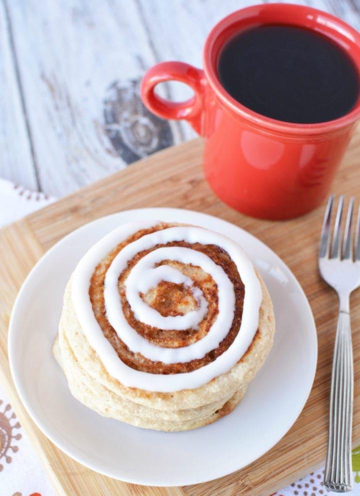 Muscle Building Foods - Scrumptious Cinnamon Roll Pancakes