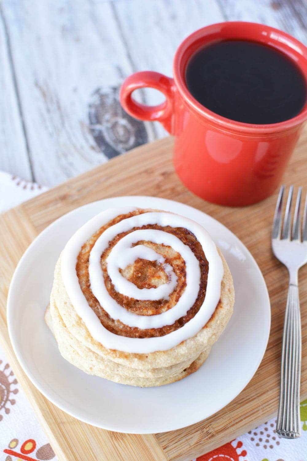 Muscle Building Foods - Scrumptious Cinnamon Roll Pancakes