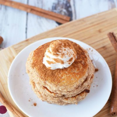 High Protein Breakfast – Yummy Snickerdoodle Protein Pancakes