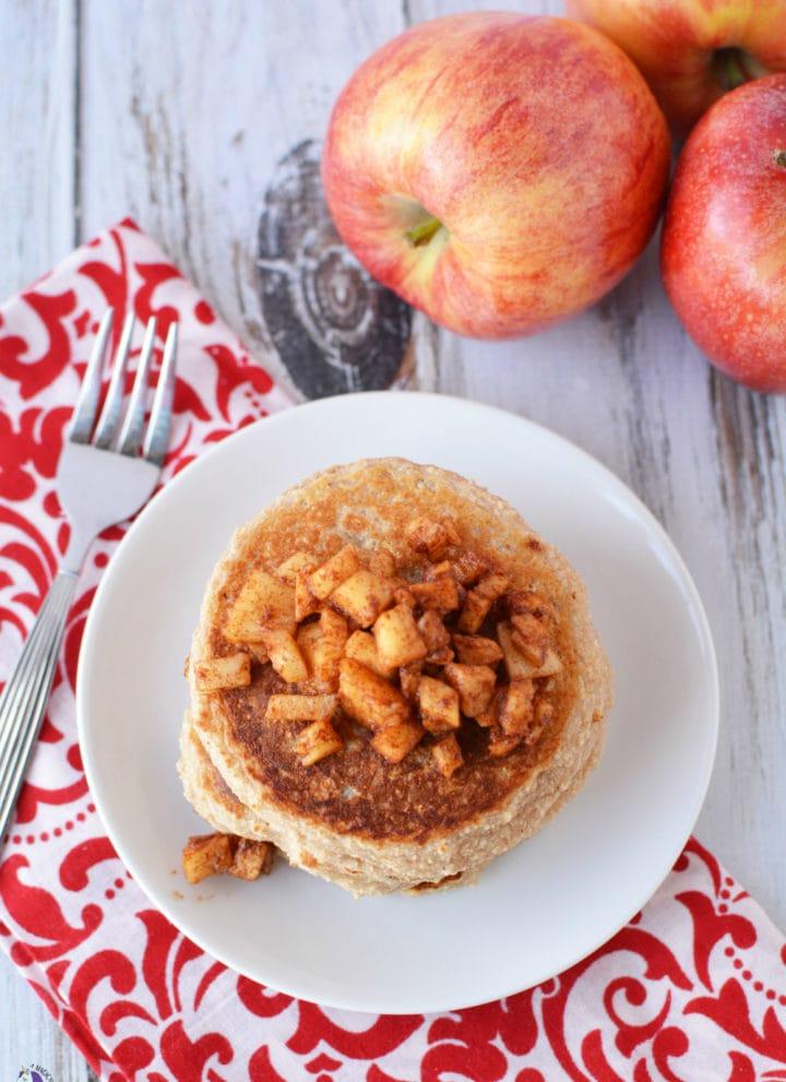 Bodybuilding Breakfast - Luscious Apple Cinnamon Protein Pancakes