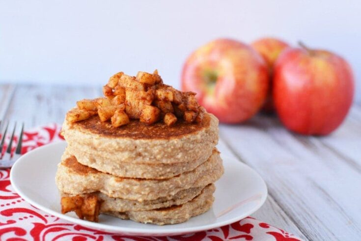 Bodybuilding Breakfast - Luscious Apple Cinnamon Protein Pancakes