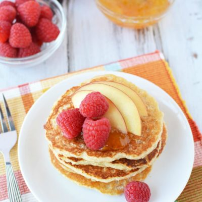 High Protein Recipes – Delightful Peach Raspberry Pancakes