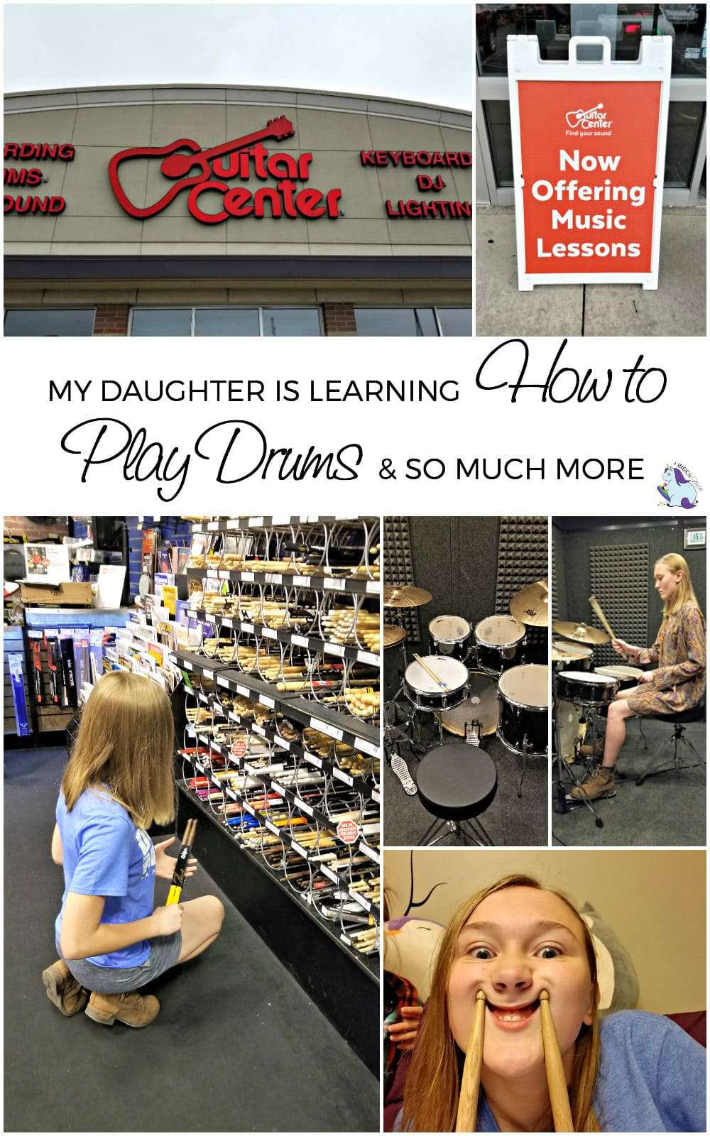 My Daughter is Learning How to Play Drums and So Much More #GuitarCenter AD