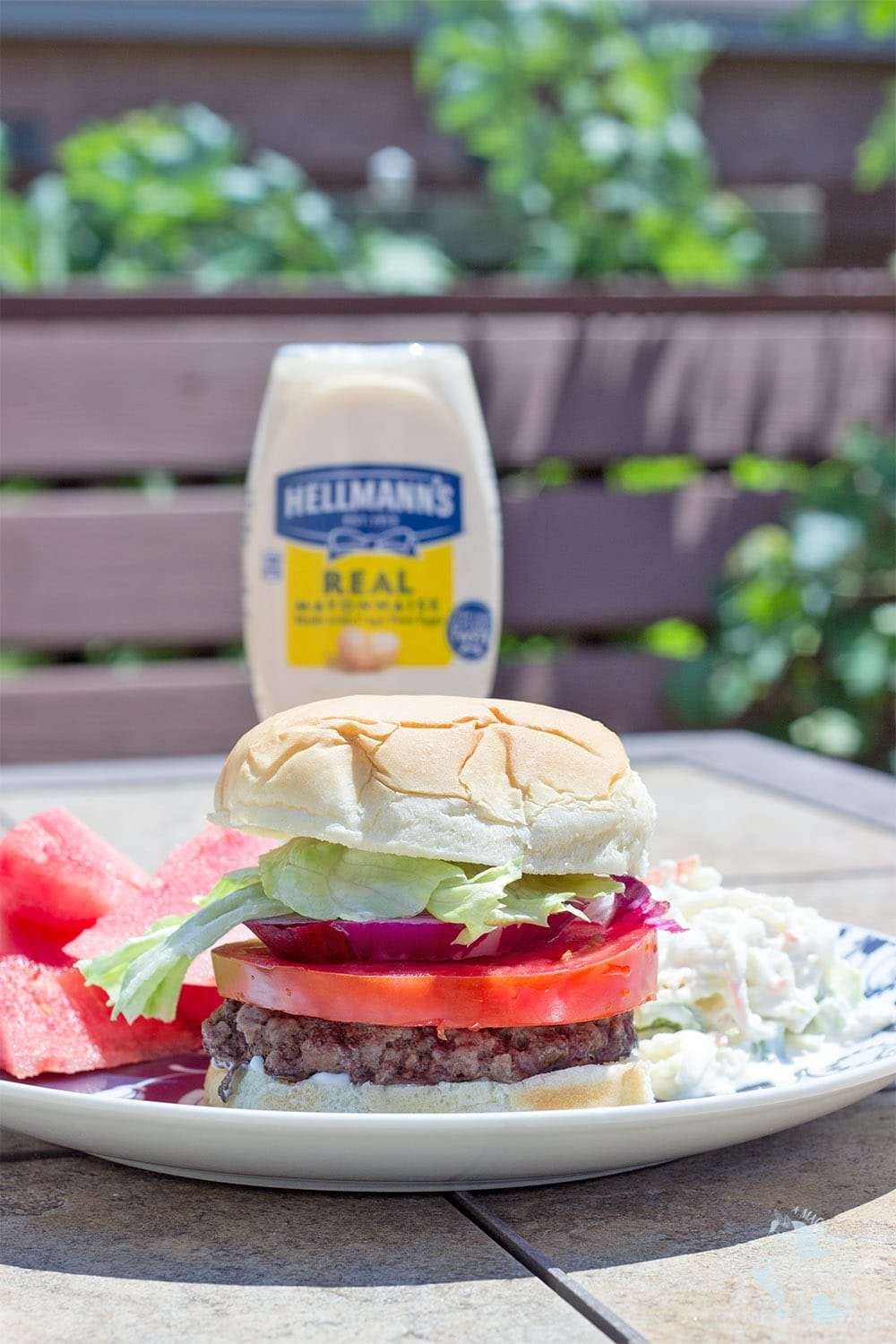 Best burger recipe with Hellman's