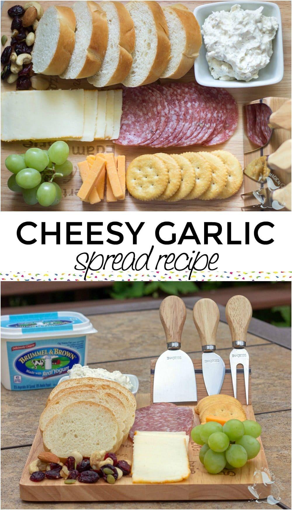 Cheesy garlic butter spread recipe