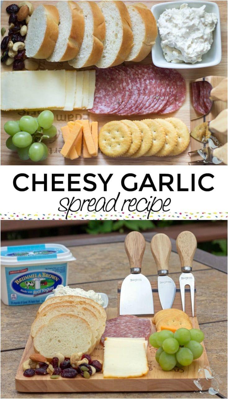 Cheesy garlic butter spread