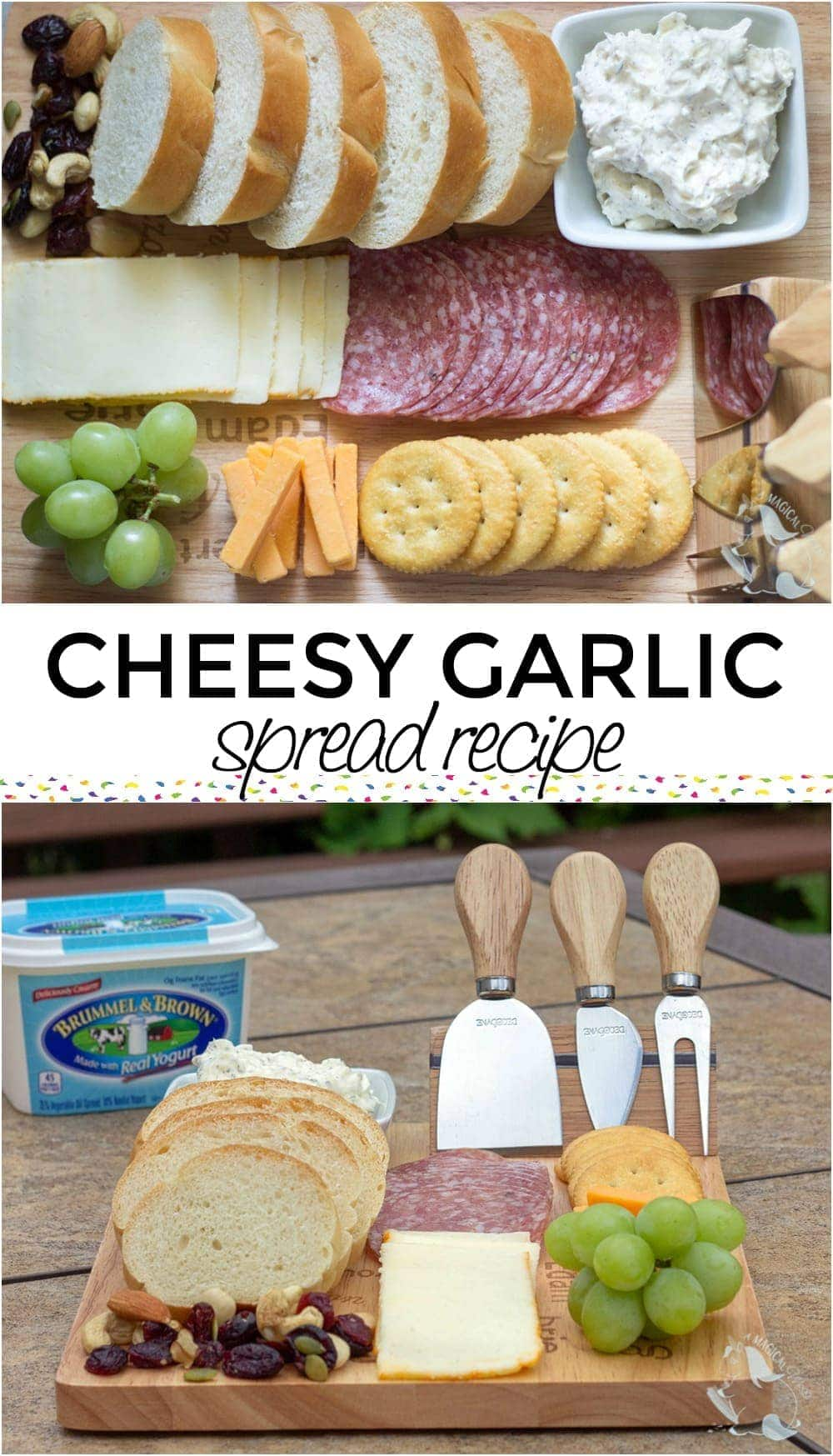 Cheesy garlic butter spread recipe