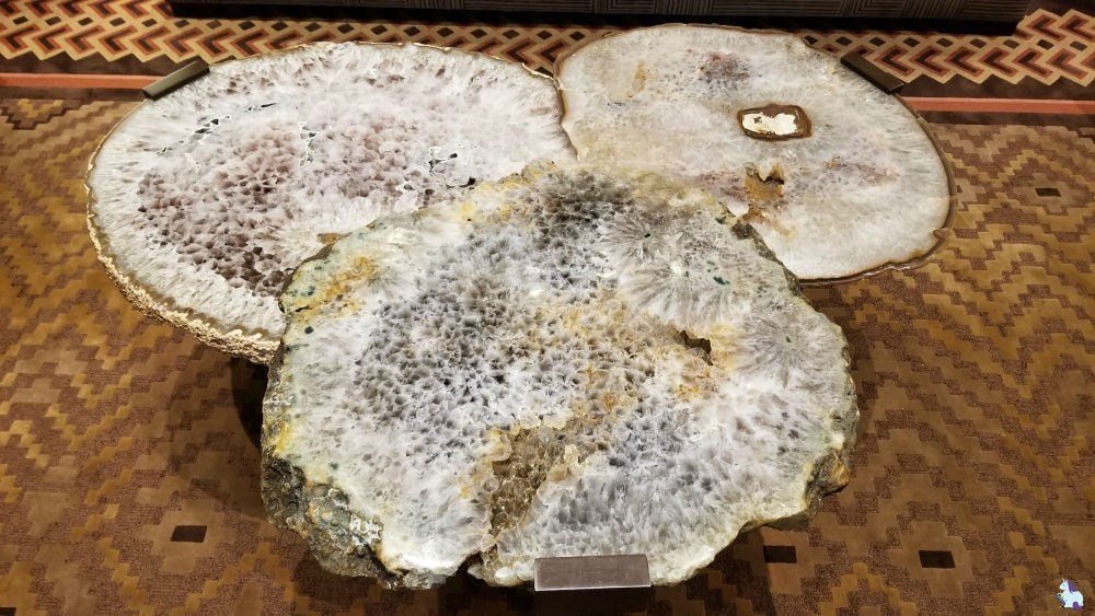 Furniture goals. Geode coffee table in the lobby of Little America Flagstaff