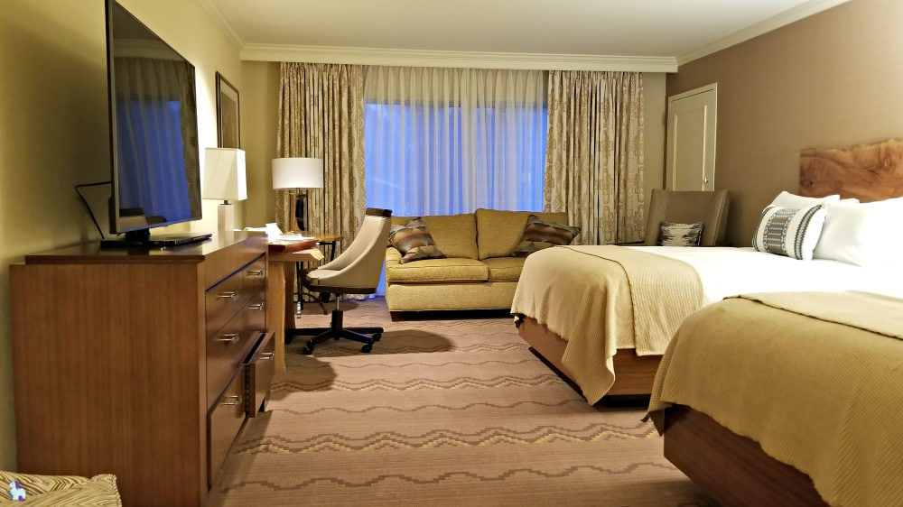 Inside the 2 queen Little America Hotel Room