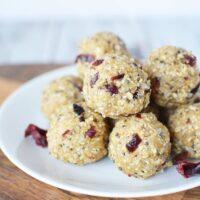 Cranberry No Bake Energy Bites Recipe
