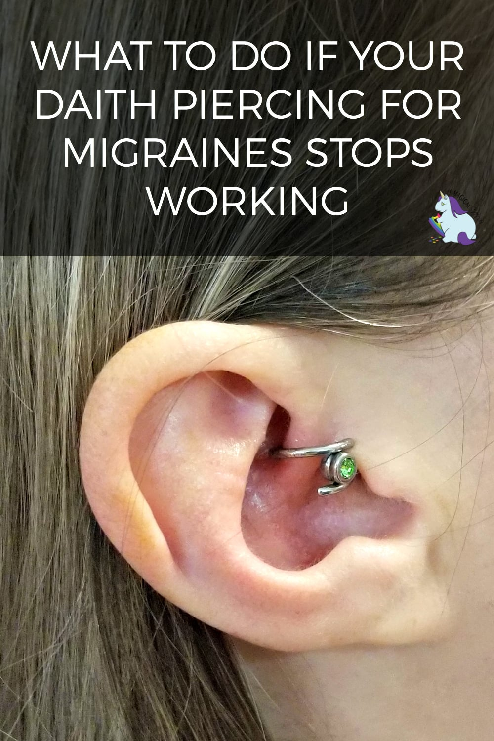 2 Years of Migraine Relief Thanks to the Daith Piercing - Now What? #daith #daithpiercing #migraines #migraine #migrainerelief #headaches