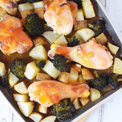 Peach Chicken Sheet Pan Dinner Recipe