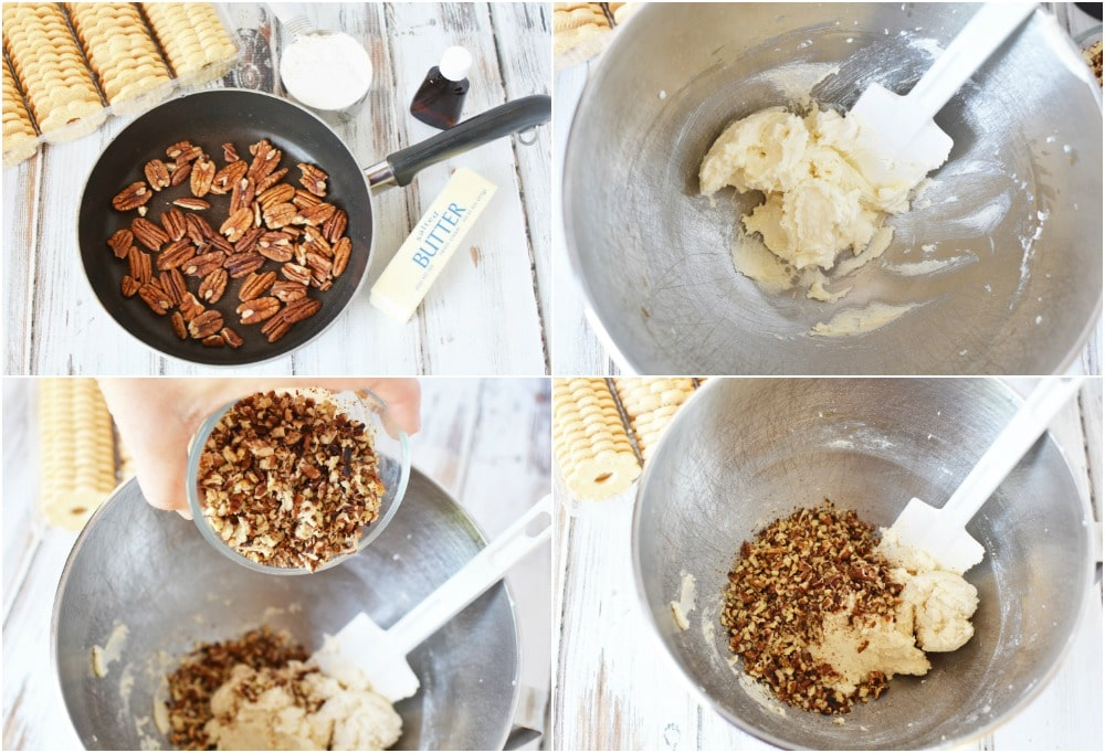 Steps to make butter pecan cookie dough dip