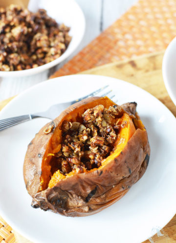 Slow Cooker Sweet Potatoes with Maple Pecan Topping Recipe