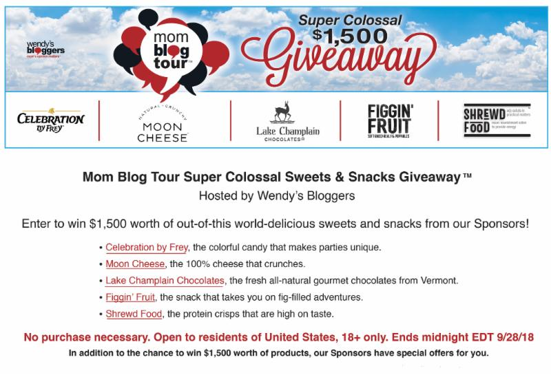 Wendy's Bloggers Sweets & Snacks Super Colossal Giveaway