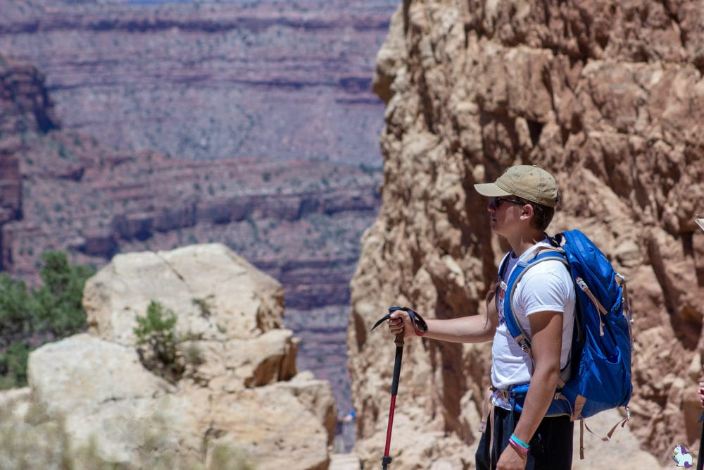 Adam VanWitzenburg looking over the Grand Canyon