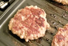 Sneaky Moon Cheese Burgers on the George Foreman grill