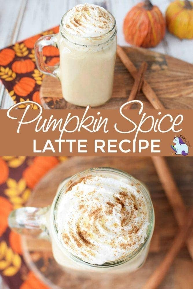 Pumpkin coffee drink with whipped cream and cinnamon