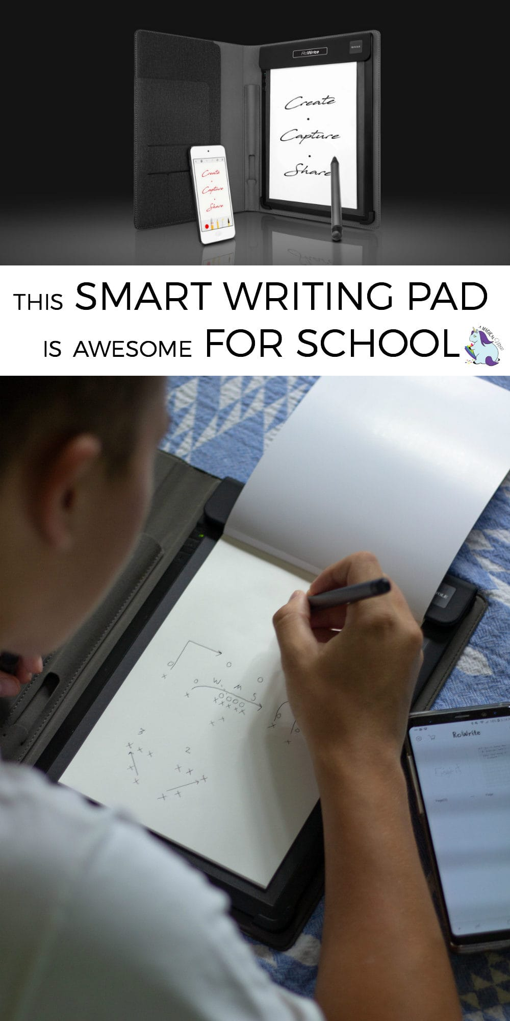 This smart writing pad is incredible! It takes your handwriting and makes it editable digitally!