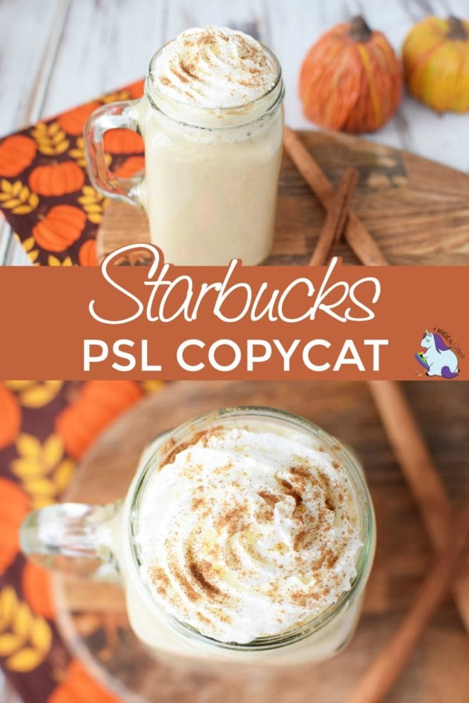 Pumpkin spice drink topped with whipped cream.